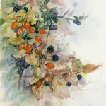 Autumn Hedgerow - Watercolour