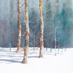 Winter Birches - Mixed Media